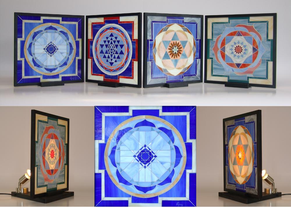 Yantra -mosaico- lampade