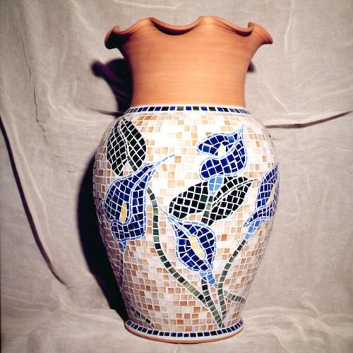 """Vaso con mosaico  """" Calle """""""