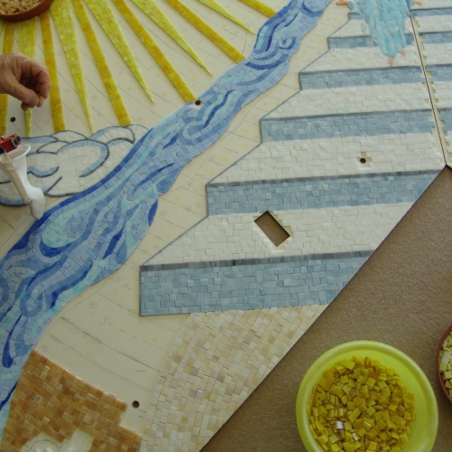 Particolare della parte alta del mosaico