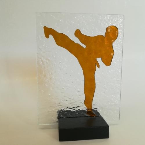 Arti marziali  figura n. 4  quadro di misura  cm. 14 x cm. 18