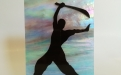 Arti marziale  figura n. 2 quadro di misura cm. 15,5 x cm. 20,5