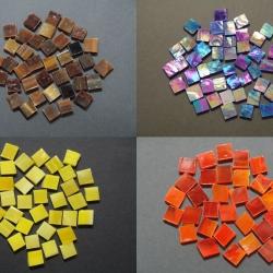 Tessere per mosaico di vetro pregiato colorato