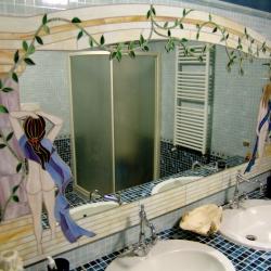 Specchio per bagno a mosaico donne