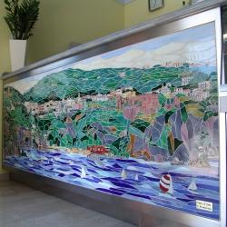Paesaggio di Vico Equense (costiera Sorrentina) a mosaico misto
