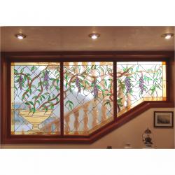 Pannello vetrata decorativo