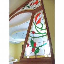vetrata pannello ingresso salone