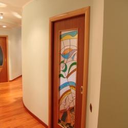 Porta scorrevole tra corridoio e zona studio