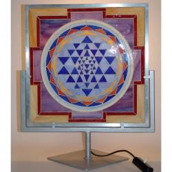 Lampada Sri Yantra a mosaico